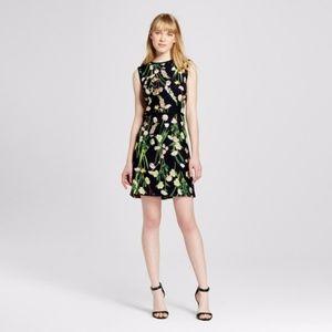 Victoria Beckham Target Black English Floral Dress