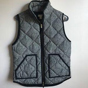 J. Crew Black & White Vest