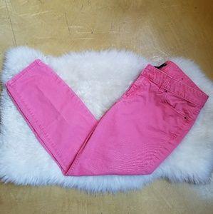 Ann Taylor Modern Skinny Jeans in Pink, 8