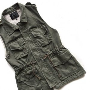 sanctuary • army green vest