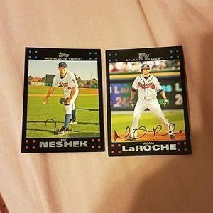 Baseball cards, set of 2