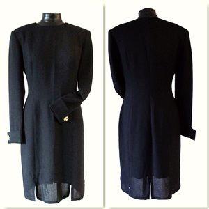 Vintage Bill Bass Black Transparent Shift Dress