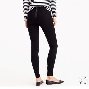 J. Crew black exposed back zipper pixie pants 8 R