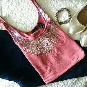 New York & Co. Sequined Tank Top