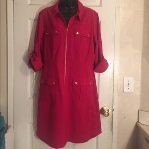 Red dress size 14 (sharagano)