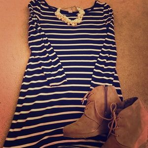 Boat Neck Leggings Shirt/Short Dress
