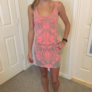Free People Coral Bodycon Dress