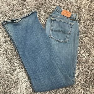 Lucky Brand Dungaree Jeans 31x32.5 Women's 12 Blue