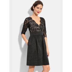 [Eliza J] Lace and Faille Dress