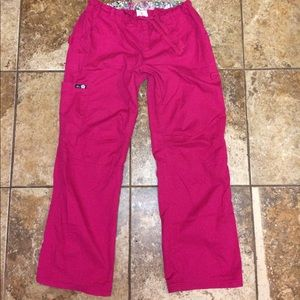 "Koi Raspberry Pink Scrub Pants Large 30.5"" Inseam"