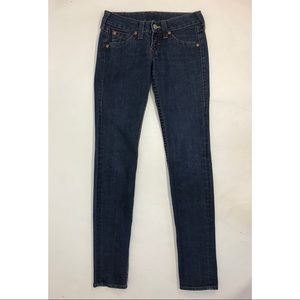 True Religion Womens Jeans Size 27 Dark Blue Denim