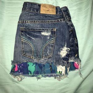 Hollister jean mini skirt