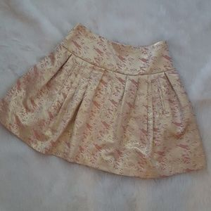 Moulinette Seours Metallic Gold and Pink Skirt