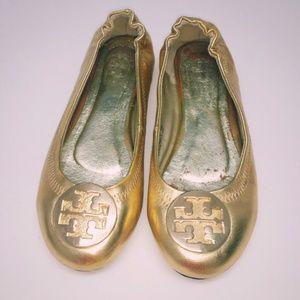 TB Reva Gold Flats