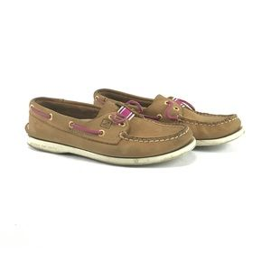 Sperry Topsider brown and pink woman's size 6
