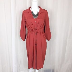 MOTHERHOOD MATERNITY Tie Detail Shirt Dress