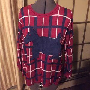 VTG: Plaid Scottie Sweater