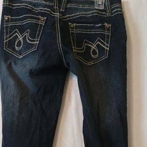 Angels jeans with belt sz 7 Bonnie skinny leg NWT