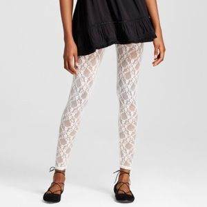 Nwt beige lace leggings by Xhiliration