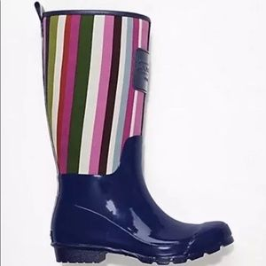 New Womens Coach Pearl Multicolor/Ink Boots SIZE 8