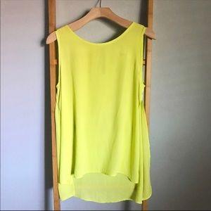 ✨NEW✨High Low Fluorescent Yellow/Green Sheer Tank