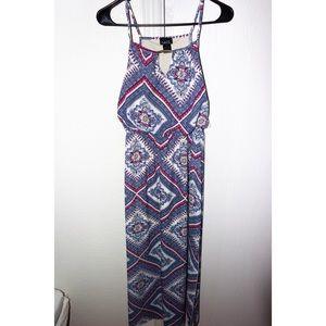 Aztec design maxi dress