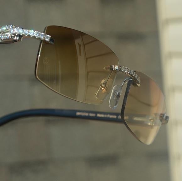 Custom Sunglasses Diamond Cartier Buffalo rsQCtxBhd