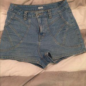 Retro style, high waisted shorts
