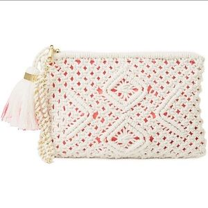 NWOT Lilly Pulitzer White Crochet Wristlet