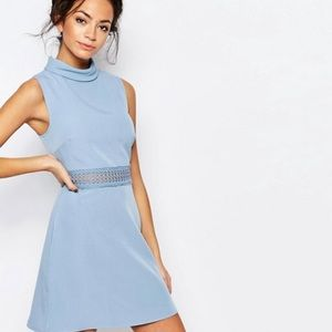 ASOS high neck lace midsection dress