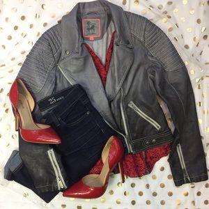 Sam Edelman Grey Ombre Motto Jacket Size Medium