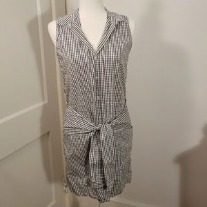 Zara shirt dress with tie size M