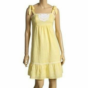 Lilly Pulitzer Cormick Yellow Linen Dress