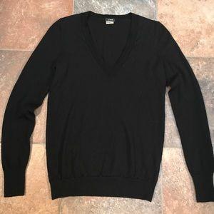J. Crew Lightweight Wool V-Neck Sweater