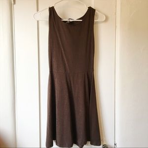 NEW Brandy Melville Brown Backless Skater Dress