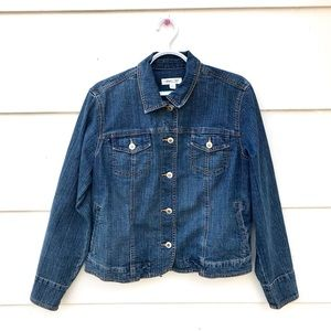 Coldwater Creek Blue Denim Jacket Blazer Button Up