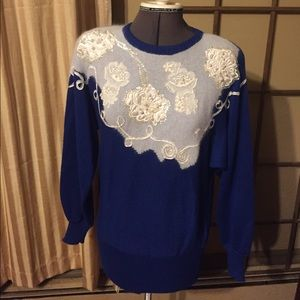 VTG: Stand Out Beaded and Sequined Sweater