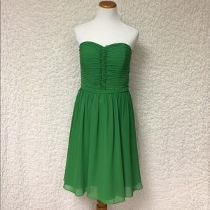 Alfred Angelo 12 green bridesmaid strapless formal