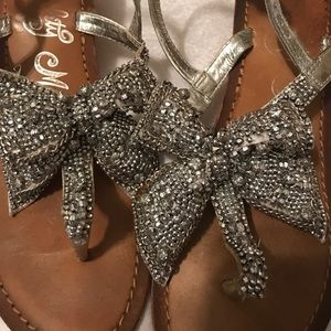 b80b3b8f60081e naughty monkey Shoes - Rhinestone bow sandals