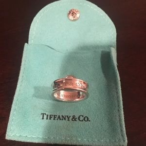 Tiffany & co 1837 Sterling Silver Ring Size 8