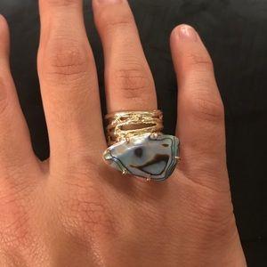 Kendra Scott Statement Ring in Abalone