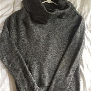 Express Grey Cowl Neck Sweater