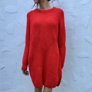 Topshop Ribbed Sweater Dress