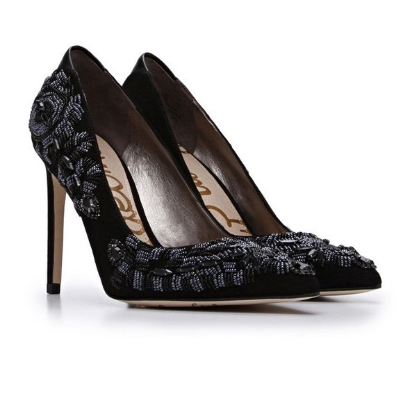 c7f67f10c Sam Edelman Black Cindi Beaded Heels. M 59e95807680278e153001ca5