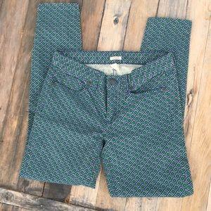J. CREW Dark Green Skinny Corduroy Pants 26