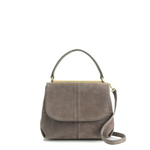 J crew suede purse crossbody, gray