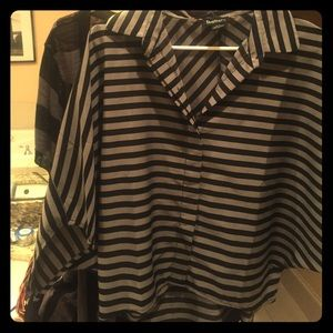 Black striped shirts, very gently used