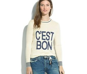 Madewell C'est Bon Pullover Sweater