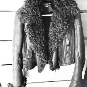 Forever 21 Faux shearling moto jacket