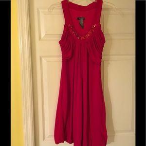 Bison Bisou wine dress - size 8